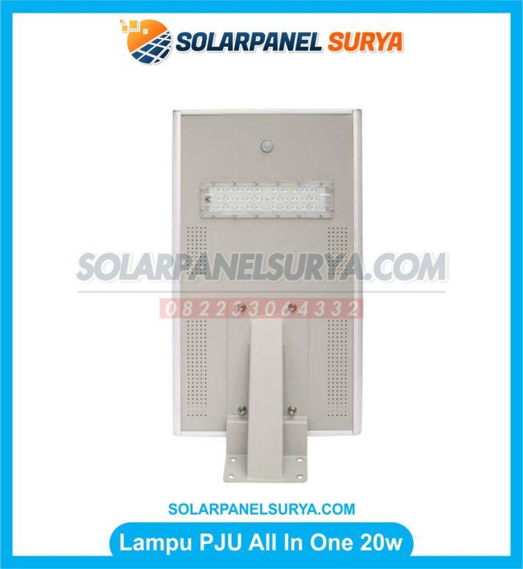 lampu pju all in one 20 watt tenaga surya