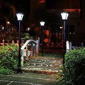 Post Light with Motion Sensor