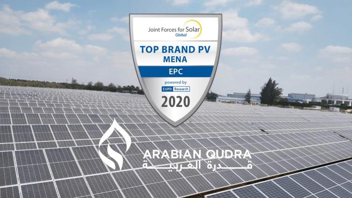 Arabian Qudra Receives Top Brand PV Seal Award for MENA Region