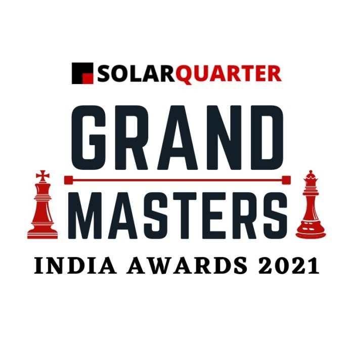 Top Honors For The Industry Leaders At SolarQuarter Grand Masters India Award 2021
