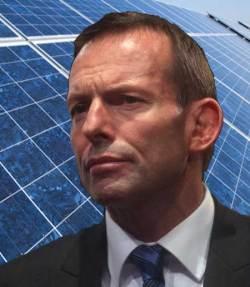 abbott infront of solar panels