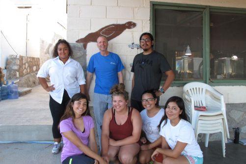 The photobiology crew: Bottom row: Allison, Rosalia, Susan, Nancy; Top row: Crystal, me, Richy. 7/8/16