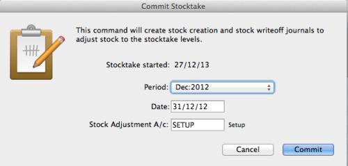 Commit stocktake