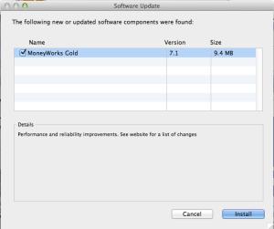 MoneyWorks 7.1 update