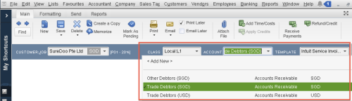 QuickBooks - Multiple Accounts Receivable account