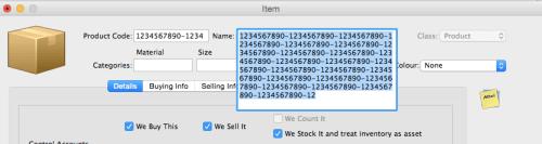 item code
