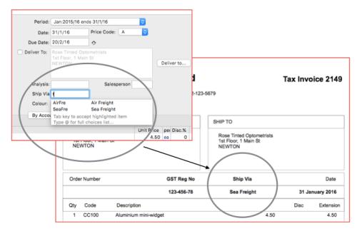 MoneyWorks accounting software - Validation