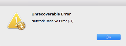 Unrecoverable Error