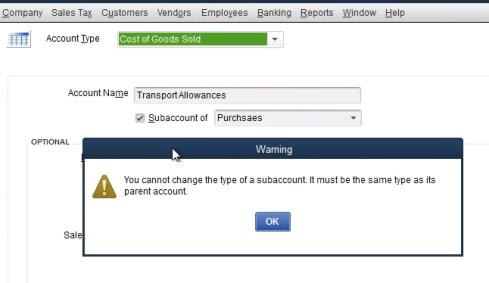 Change QuickBooks account type