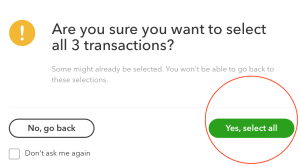 QBO - select all transaction in reconcile