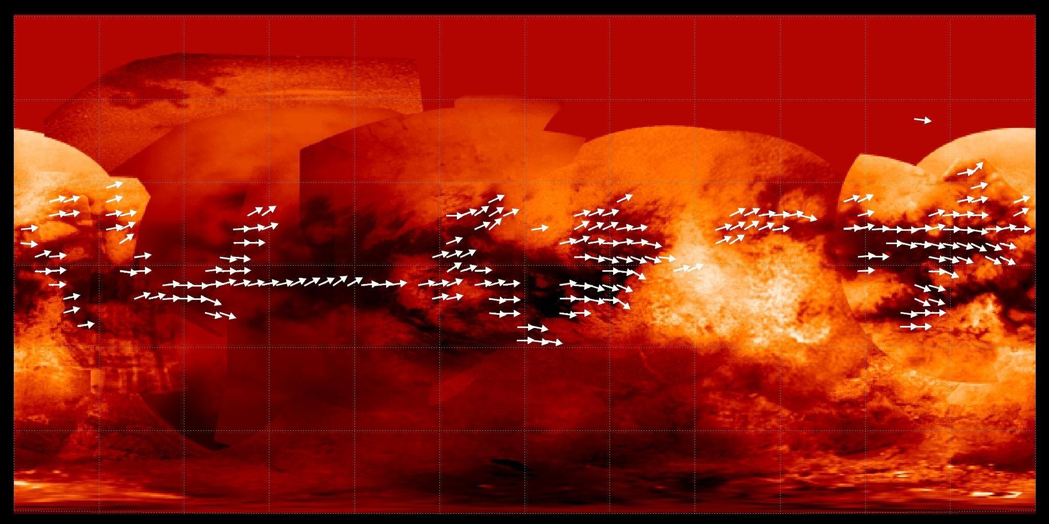 Mapping Titan S Global Wind Patterns