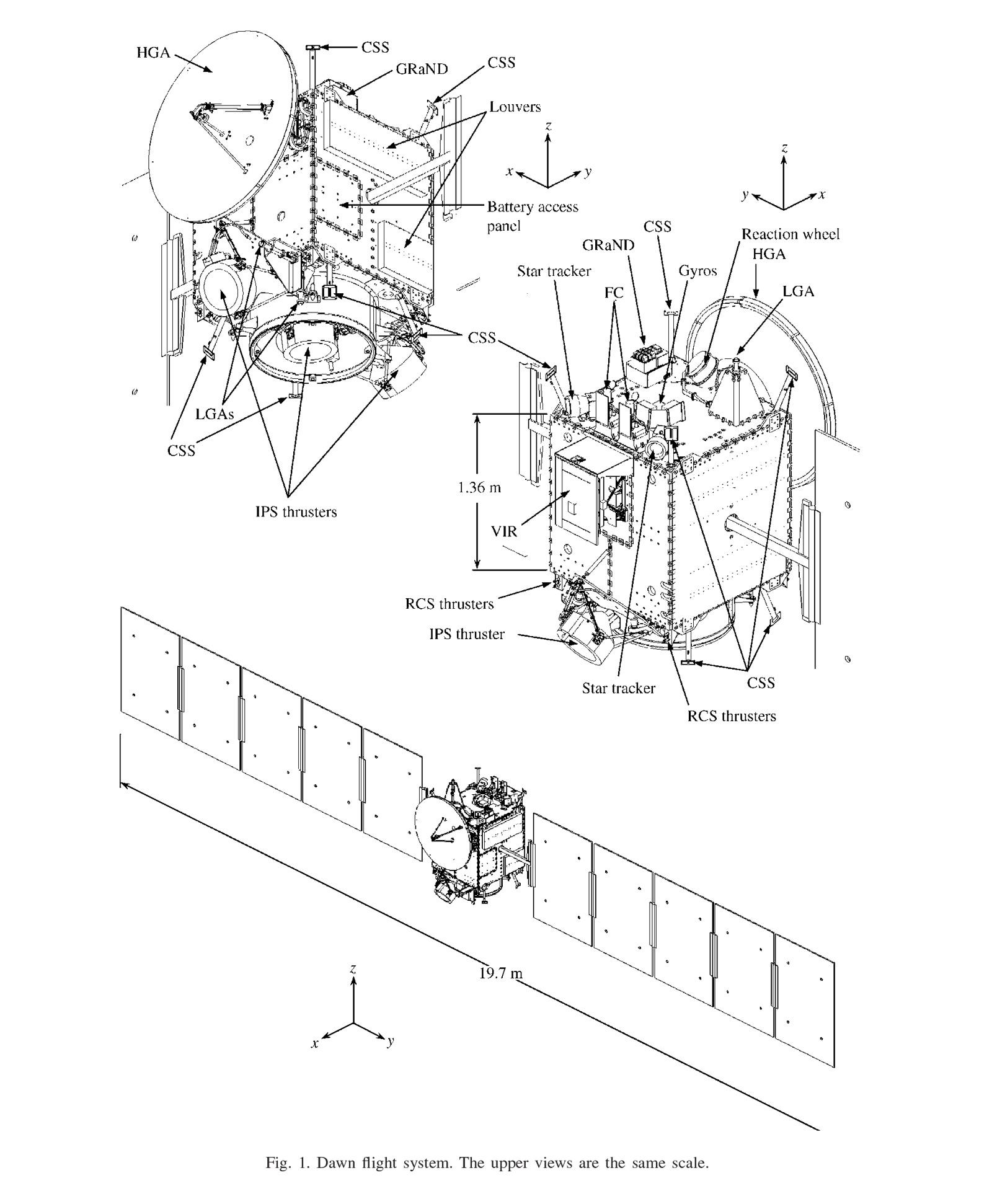 Dawn Spacecraft Diagram No 2