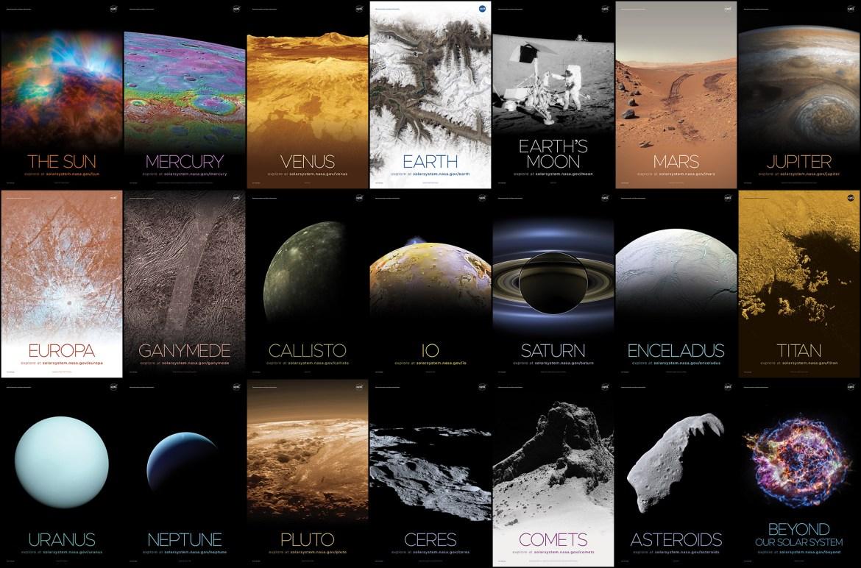 คอลเลกชันของโปสเตอร์อวกาศ