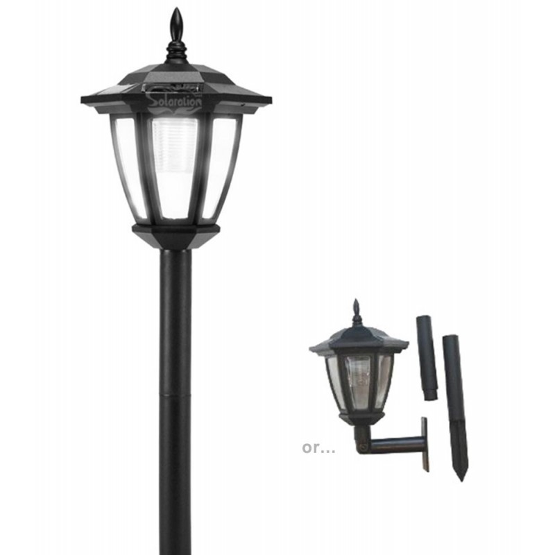 Plastic Hexagon Solar Light With Wall Mount and Ground