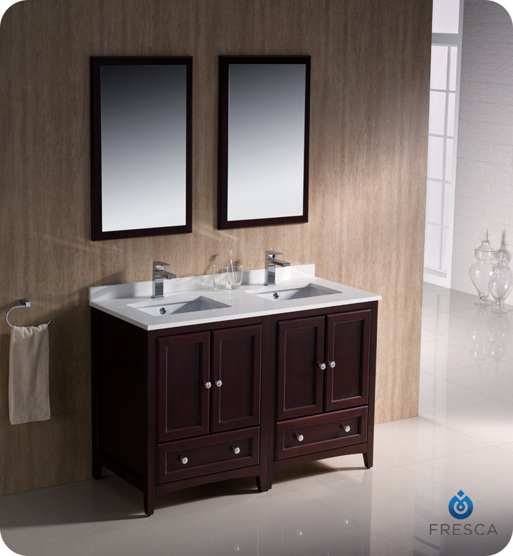 fresca fvn20 2424mh oxford 48 traditional double sink bathroom vanity in mahogany faucets mosaic kitchen supplies bathroom supplies and much