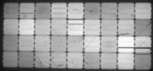 Elektrolumineszenz-Aufnahme des fabriksneuen flexiblen Solarmoduls des chinesischen Mitbewerbers