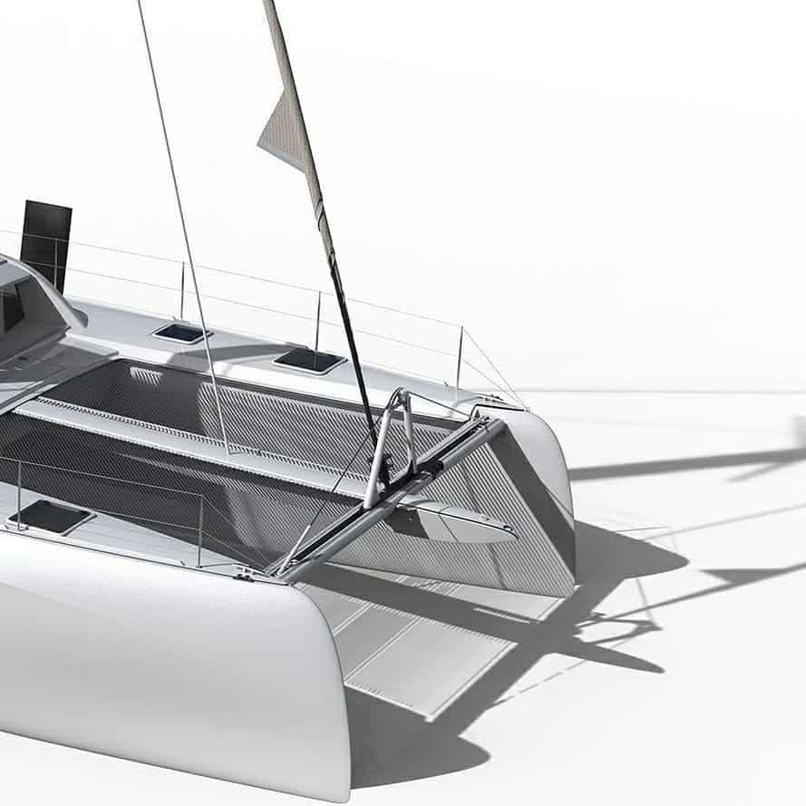 Outremer 51 catamaran solar panel walkable Solbian