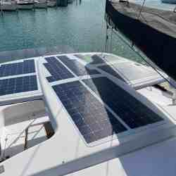 Outremer 51 catamaran solar panel walkable Solbian