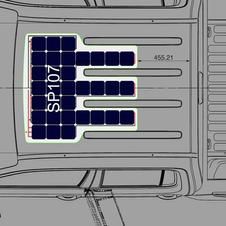 VW Amarok DC solar panel roof Solbian