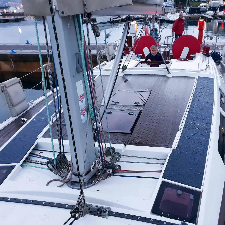 Hanse 470e Solbian Solar Solaranlage begehbar Deck Leinenabdeckung