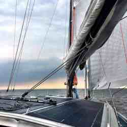 Viator Explorer 42 DS Solbian Solar walkable solar panel array sailing yacht boat bell marine electric hybrid