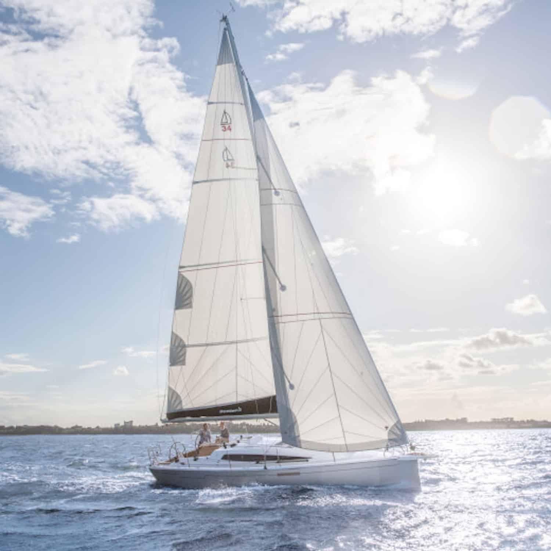 Dehler 34 sailing yacht performance cruiser solbian solar panel walkable custom tailor-made