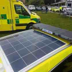 Solbian Solar NHS Ambulance Emergency truck car solar photovoltaic system