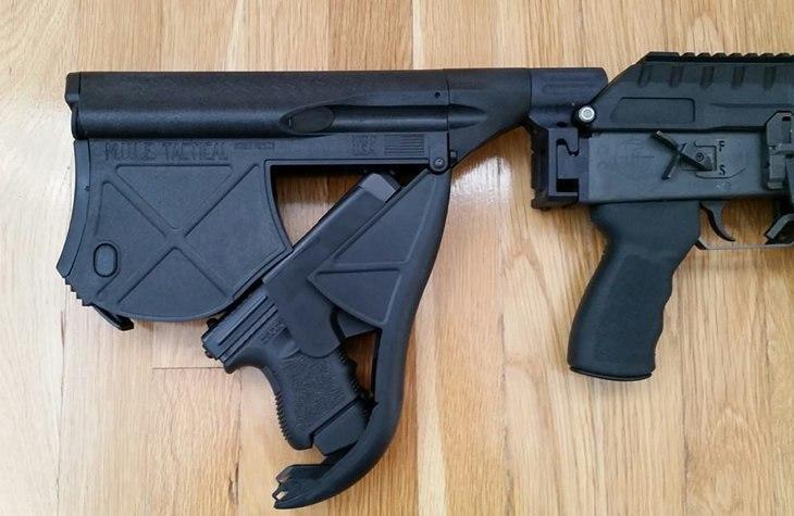 пистолет в прикладе