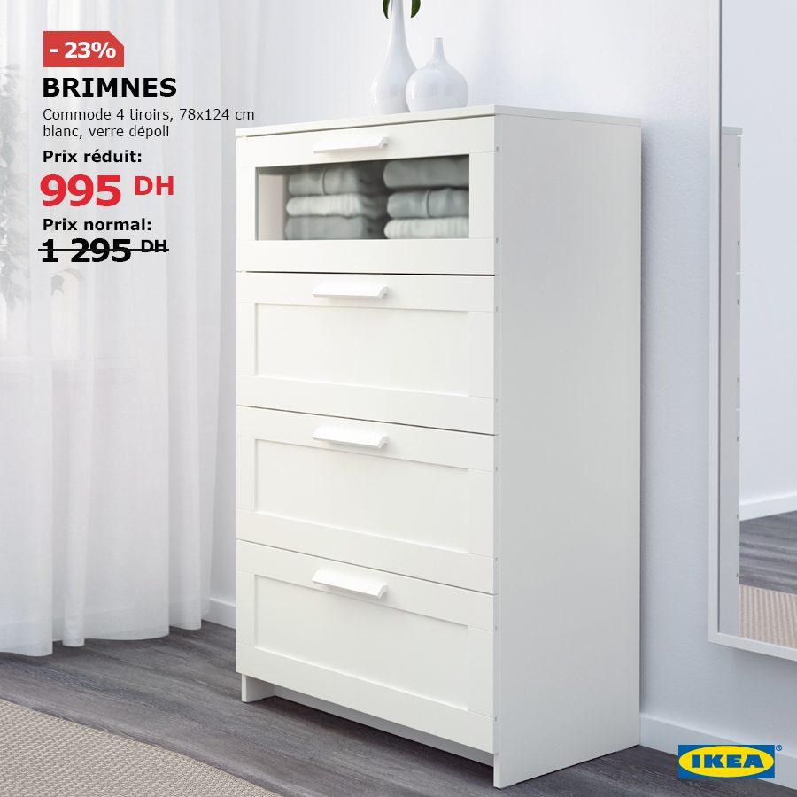 Soldes Ikea Maroc Commode 4 Tiroirs Brimnes 995dhs Au Lieu