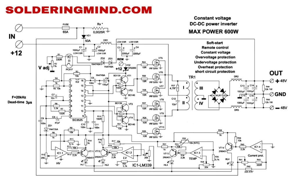 Fully Automatic Inverter with Circuit And PCB Layout