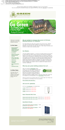 eNewsletter Design 3R Green Building Supplies
