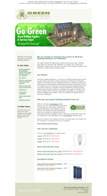 3R Green Builidng Solutions eNews Design