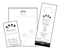 Business Card Design Brady Lawn and Sprinkler Services