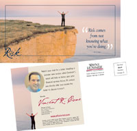 Direct Mail Postcard Design Wayne Hummer Investments