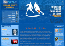 The Virtual Sports Academy Website