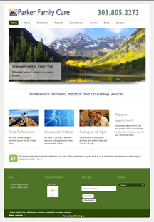 Parker Family Care Website