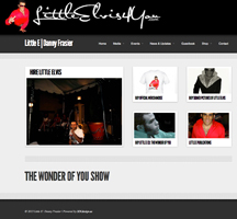 Little Elvis Tribute Artist Website Design