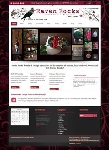 Website Design Services for Raven Rocks Jewelry & Design in Colorado