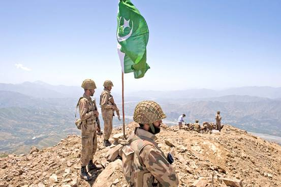 Pakistan Army soldiers in Operation on a Post