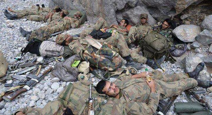 PMA cadets having rest during exercise