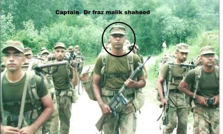 Captain Dr fraz Malik shaheed