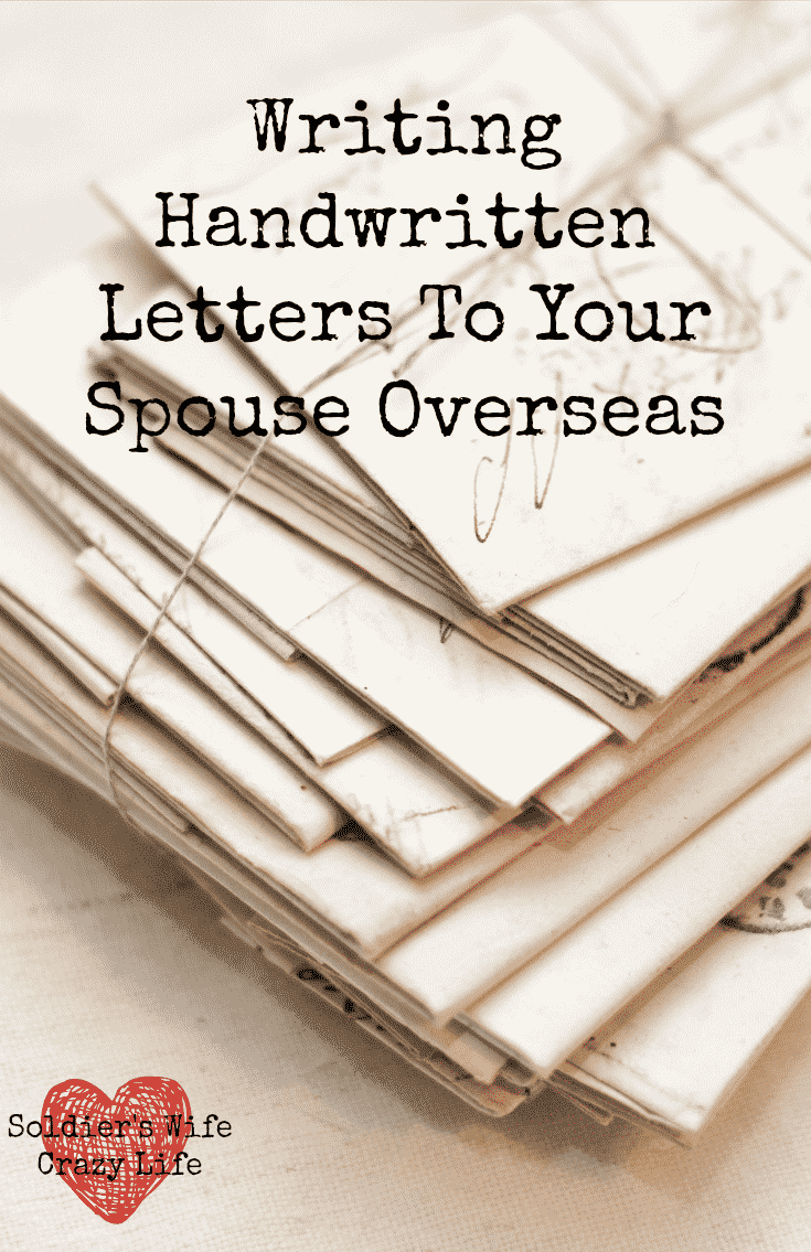 Writing Handwritten Letters To Your Spouse Overseas