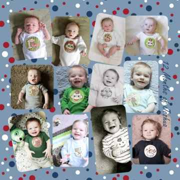 Baby Month Shirts