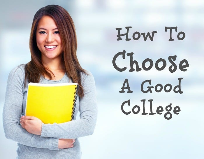 how to choose a good college