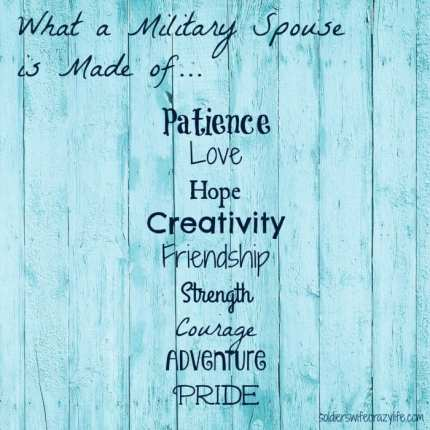 Military Spouse is made of