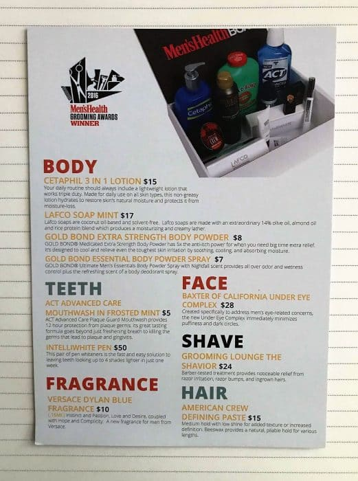 The Men's Health Box