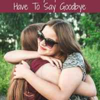 When Military Spouse Friends Have To Say Goodbye