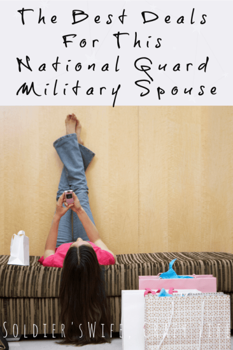 The Best Deals For This National Guard Military Spouse