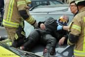 schwerverletzte motorradunfall osloer strasse prinzenallee Berlin (3)