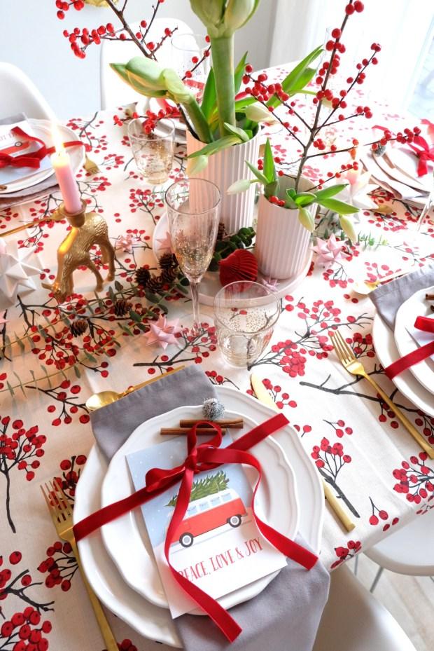 Tischdekoration fr Weihnachten 2018  solebenwir